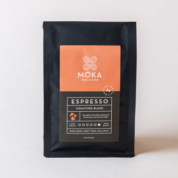 Espresso Signature Blend Coffee 12oz Moka Origins