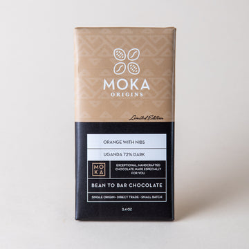 Orange With Nibs Chocolate Bars Moka Origins