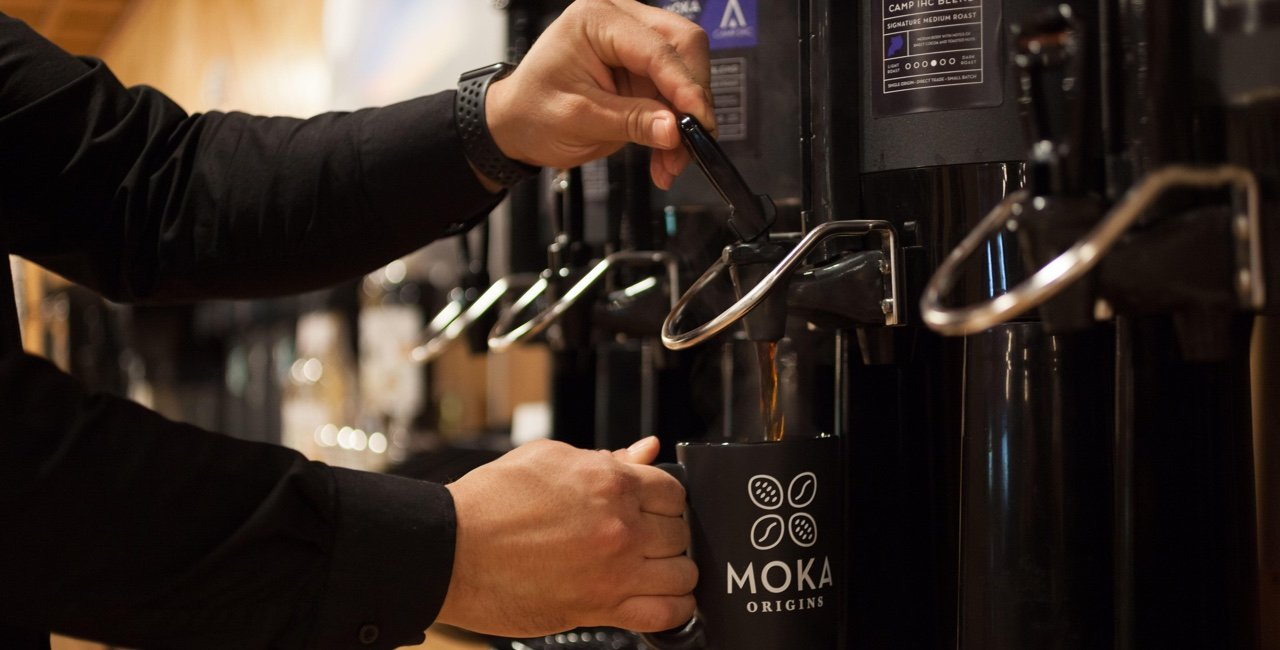 Moka Origins Premium Coffee at Camp