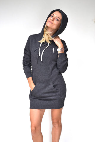 Sarah Marie Design Studio Hoodie Dress in Charcoal