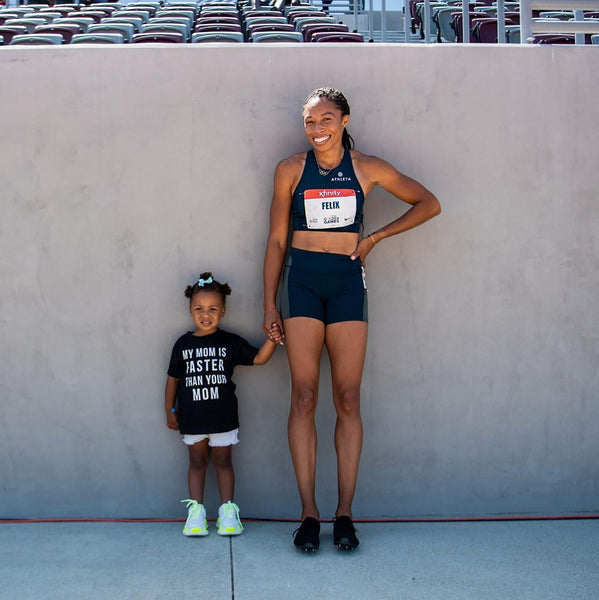 Allyson Felix, My mom is faster than your mom shirt