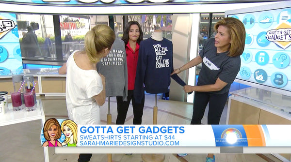 "Sarah Marie Design Studio on ""Gotta Get Gadgets"", the Today Show with Jen Ator, Kathie Lee and Hoda"