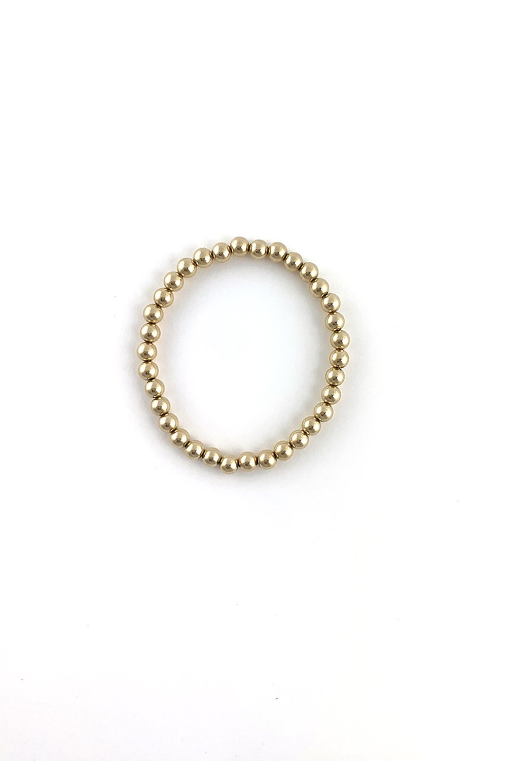 Round Gold Beaded Bracelet - Sarah Marie Design Studio