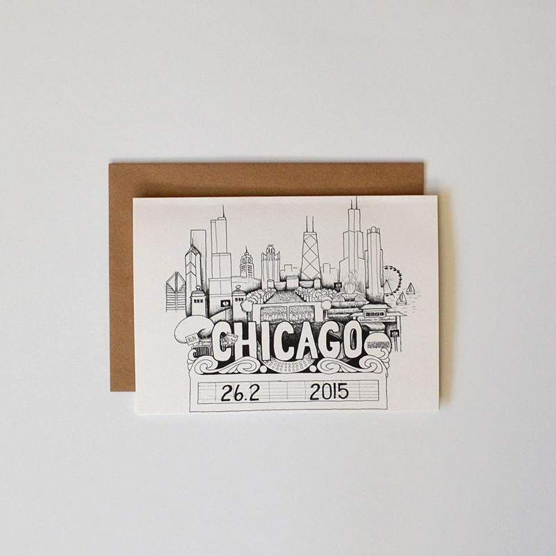 Chicago Marathon Card - Sarah Marie Design Studio
