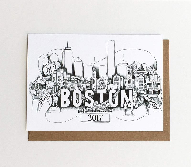 Boston Marathon Card - Sarah Marie Design Studio
