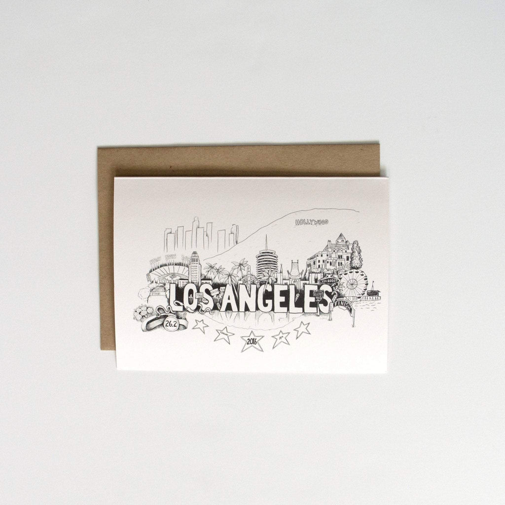 Los Angeles Marathon Card - Sarah Marie Design Studio