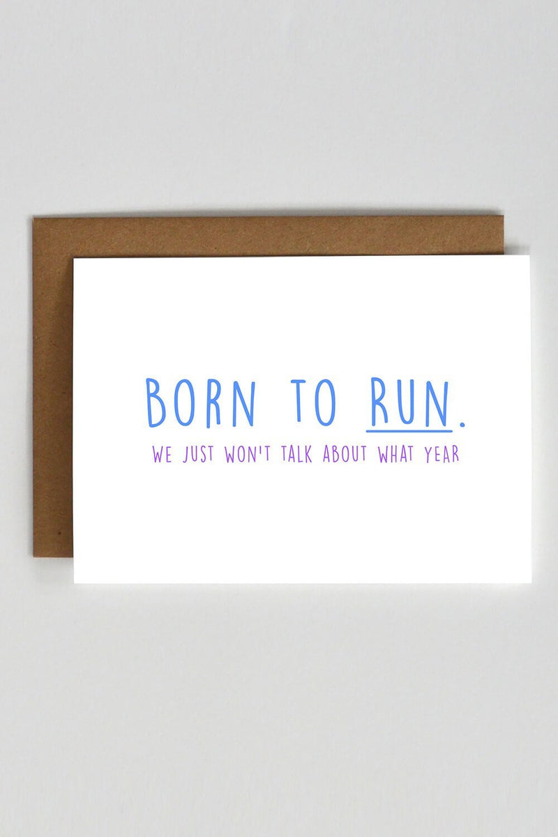 Born To Run Card - Sarah Marie Design Studio