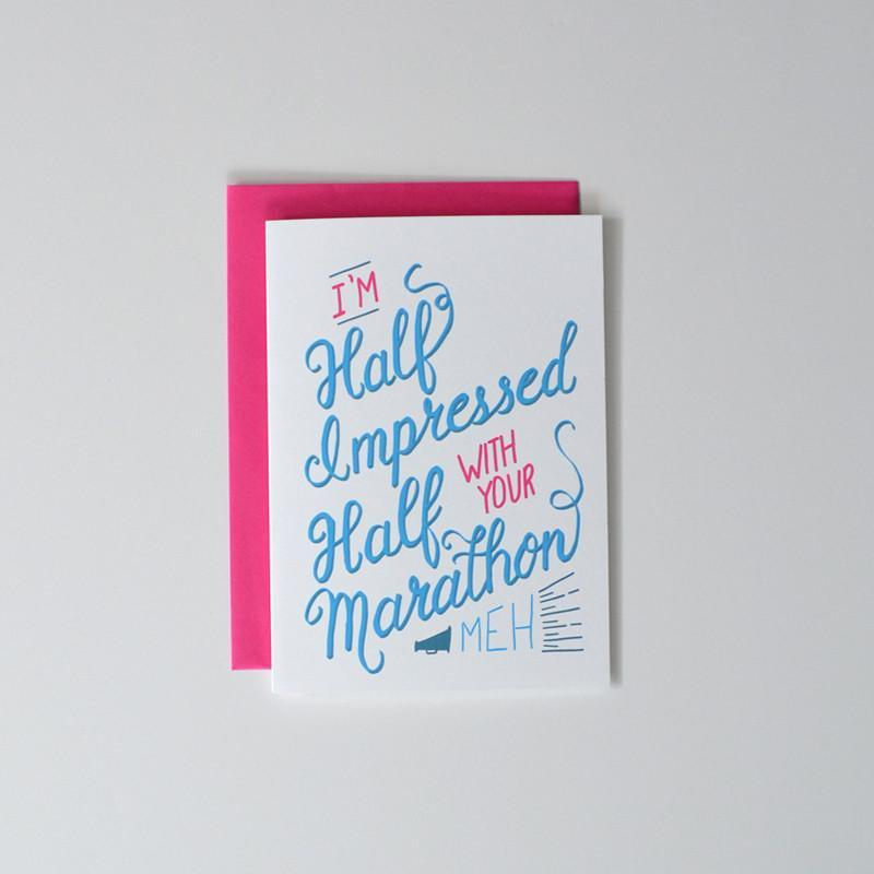 I'm Half Impressed with your Half Marathon - Sarah Marie Design Studio