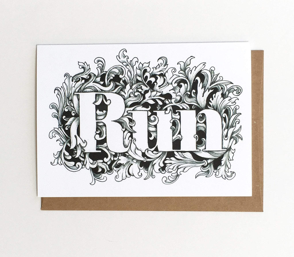Run Card - Sarah Marie Design Studio