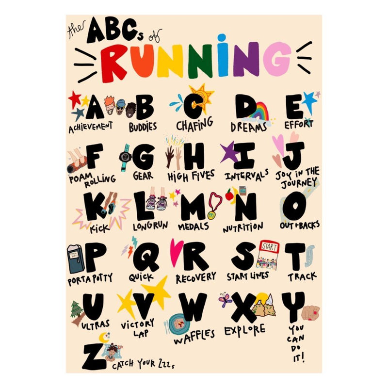 The ABC's of Running Card - Sarah Marie Design Studio