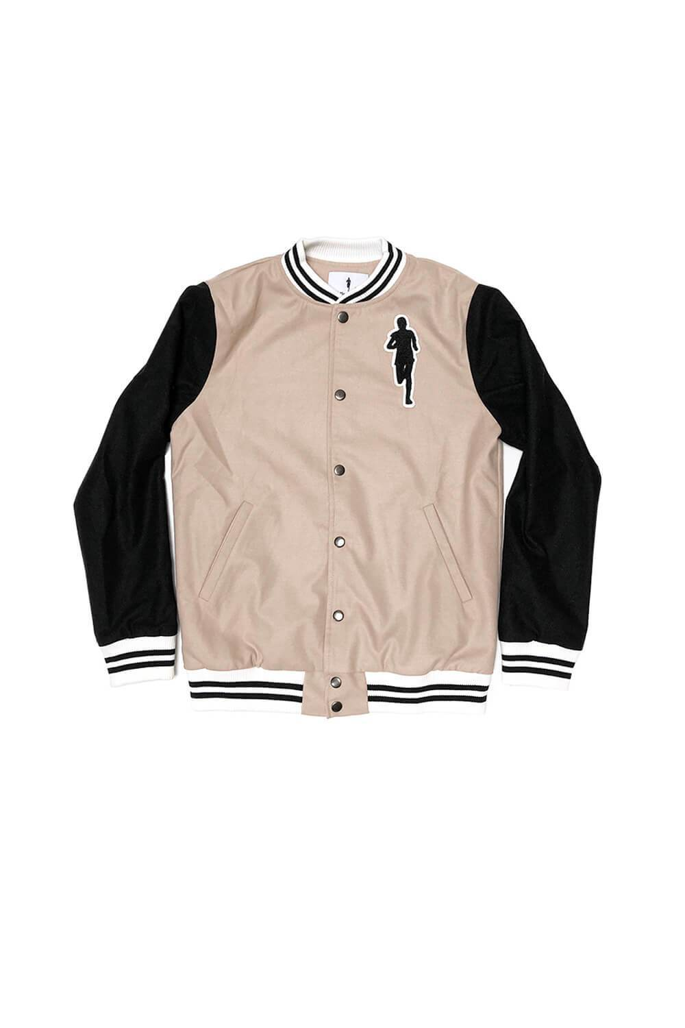 Varsity Jacket - Tan/Black - Sarah Marie Design Studio