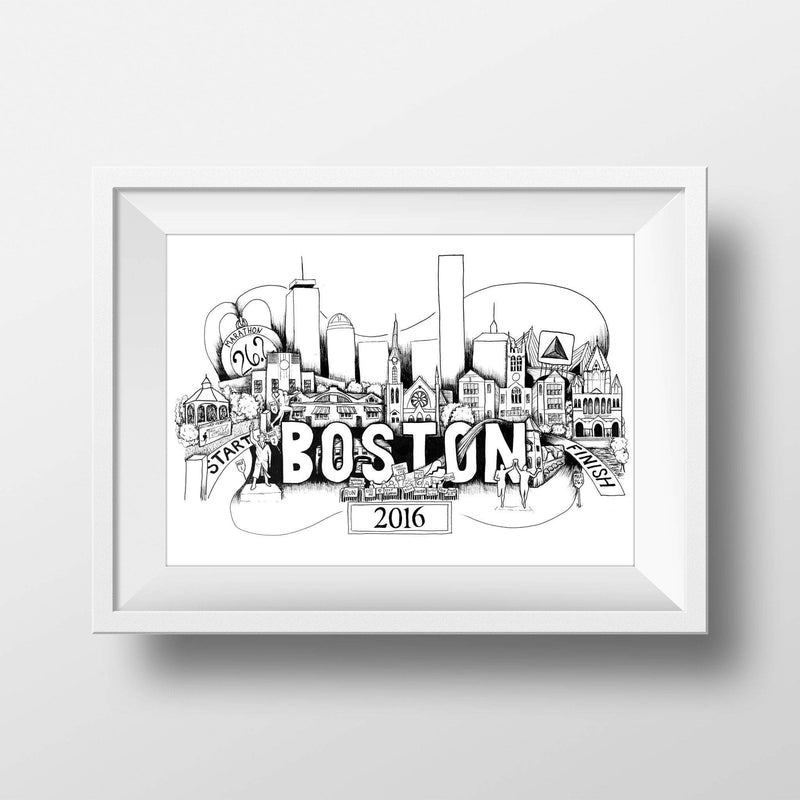 Boston Marathon Print - Sarah Marie Design Studio