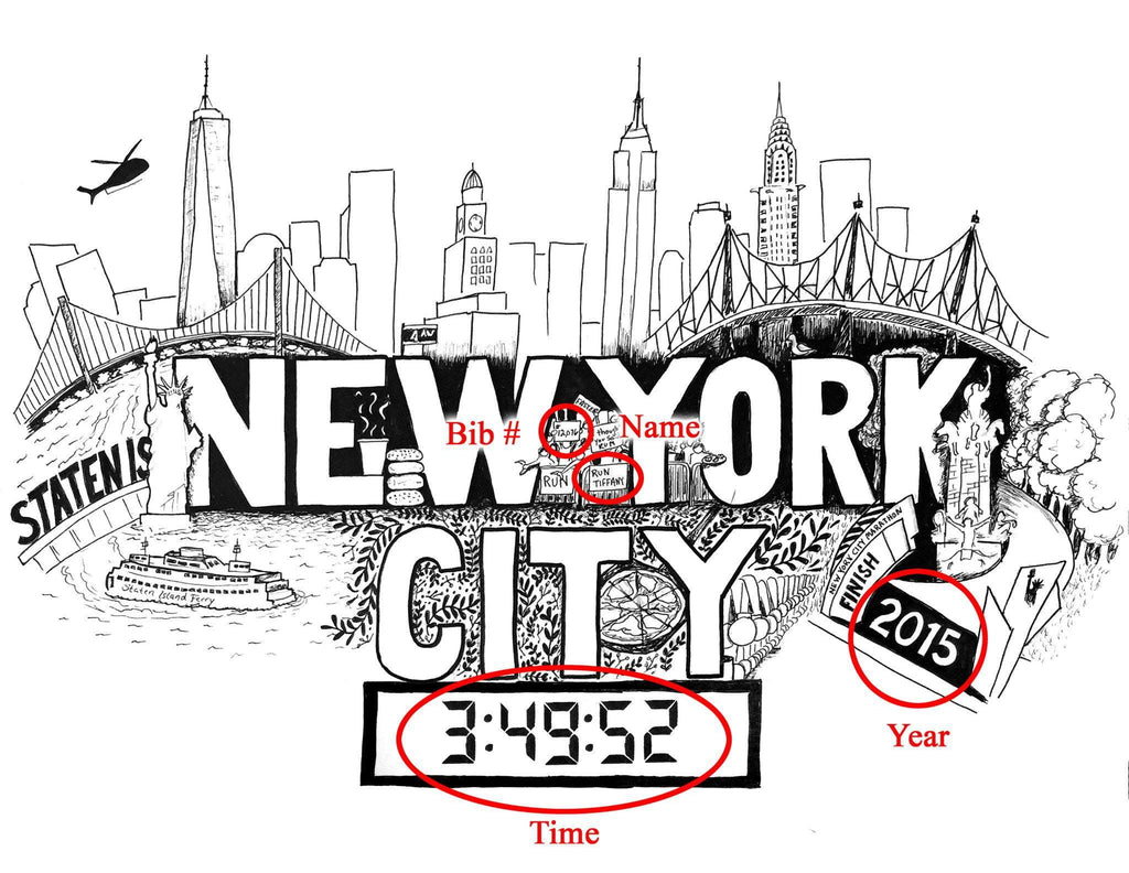 New York City Marathon Print - Sarah Marie Design Studio