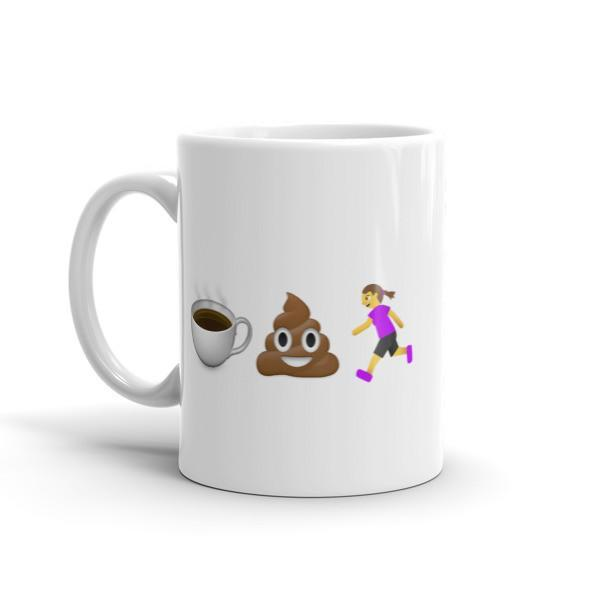 Coffee Poop Runner Girl Mug - Sarah Marie Design Studio