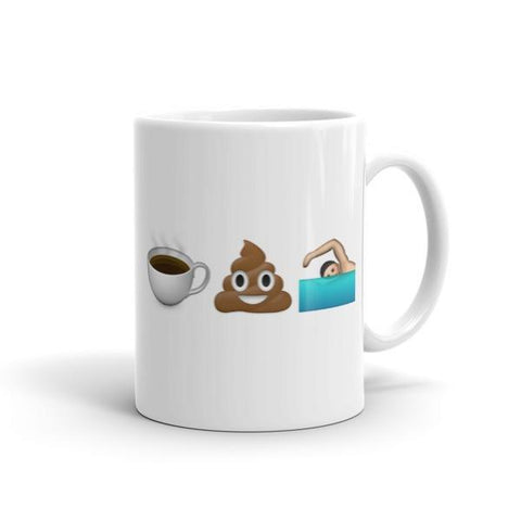 Coffee Poop Runner Girl - New Emoji - Mug