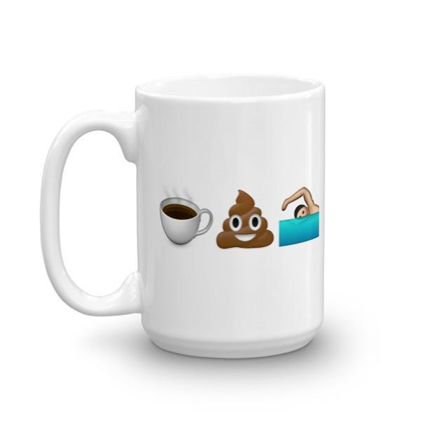 Coffee Poop Swim Mug - Sarah Marie Design Studio