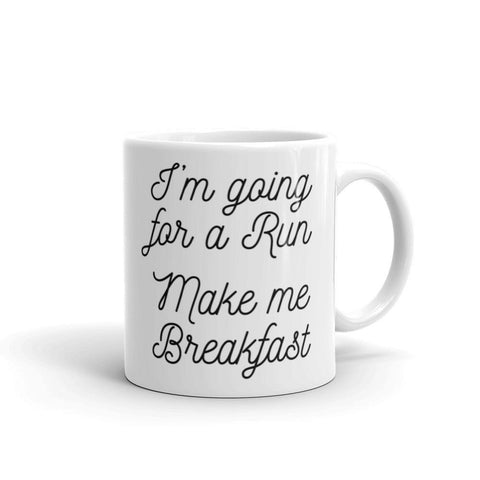 Coffee Poop Runner Girl Mug