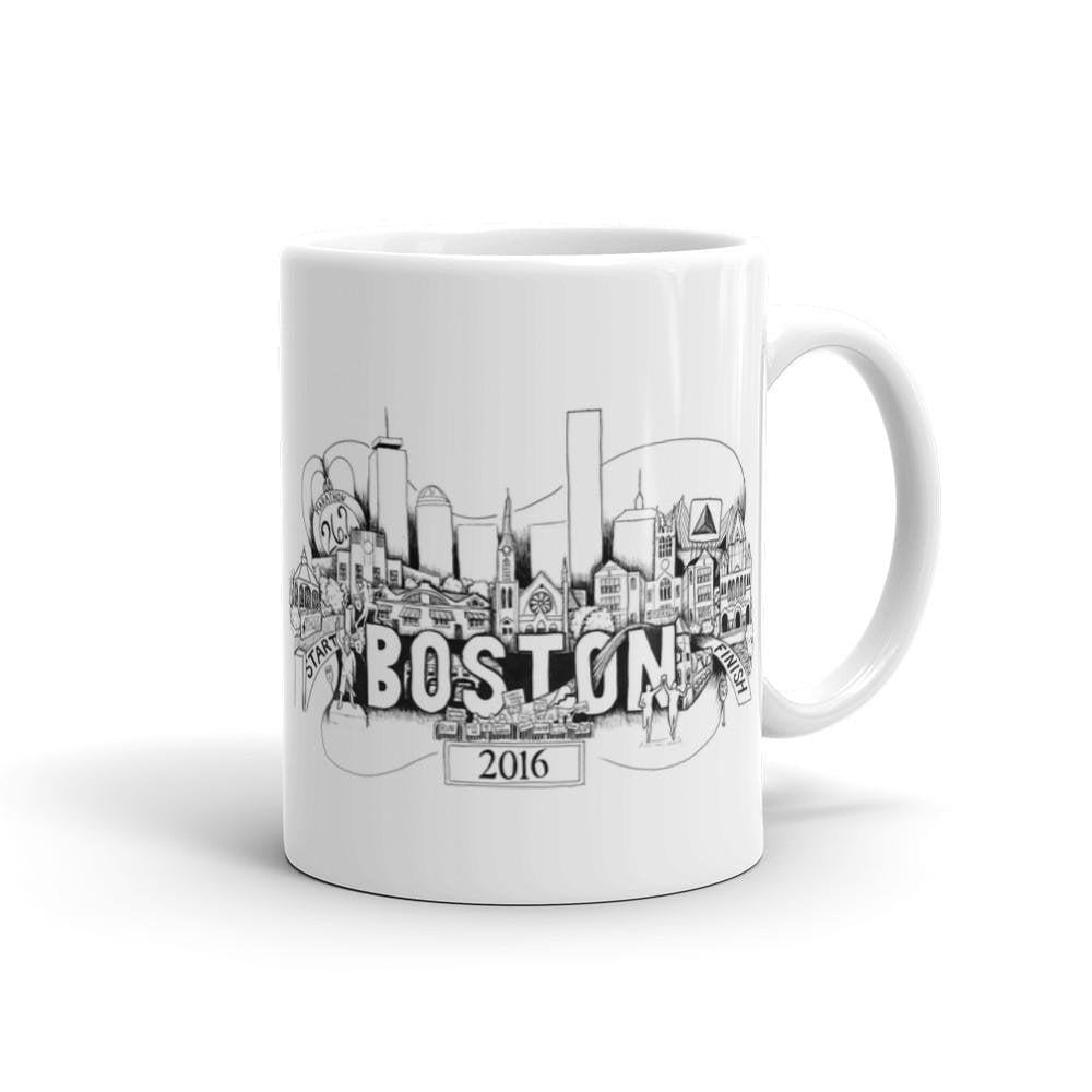 Boston Marathon Mug - Sarah Marie Design Studio