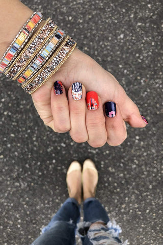 Will Run For Wine Nail Wraps