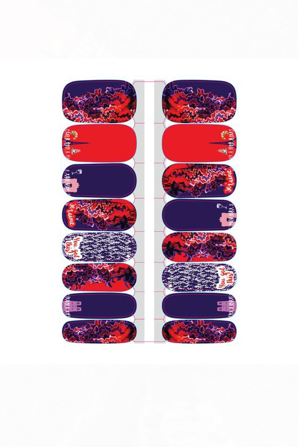 Paris Nail Wraps - Sarah Marie Design Studio