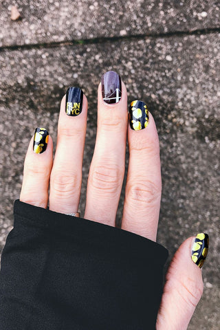 Leopard & Stars Chicago Nail Wraps