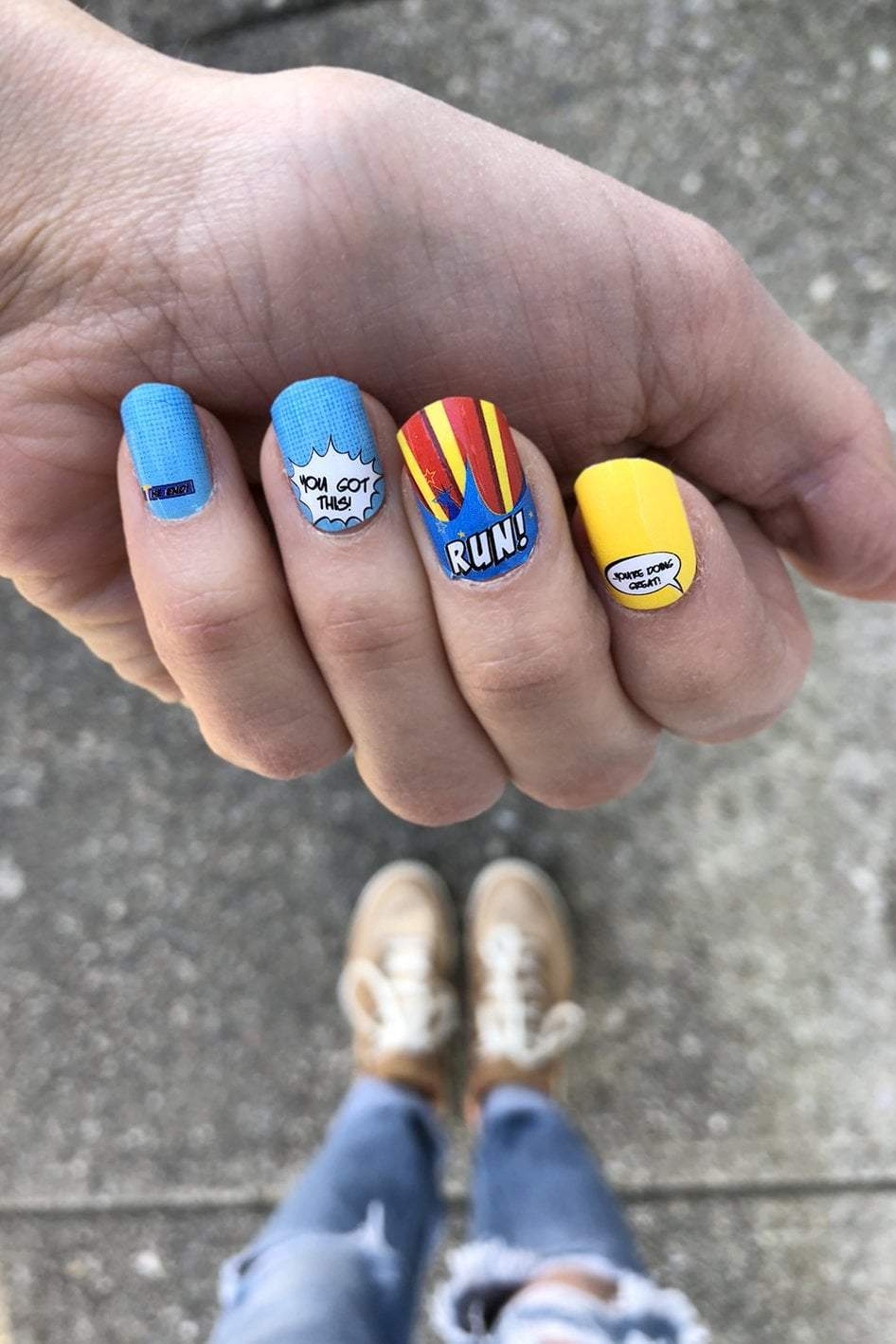 Superhero Nail Wraps - Sarah Marie Design Studio