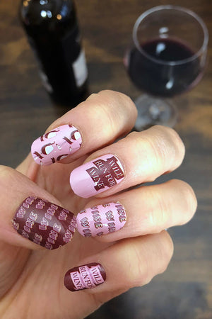 Sarah Marie Design Studio Nail Wraps - Will Run For Wine Nail Wraps