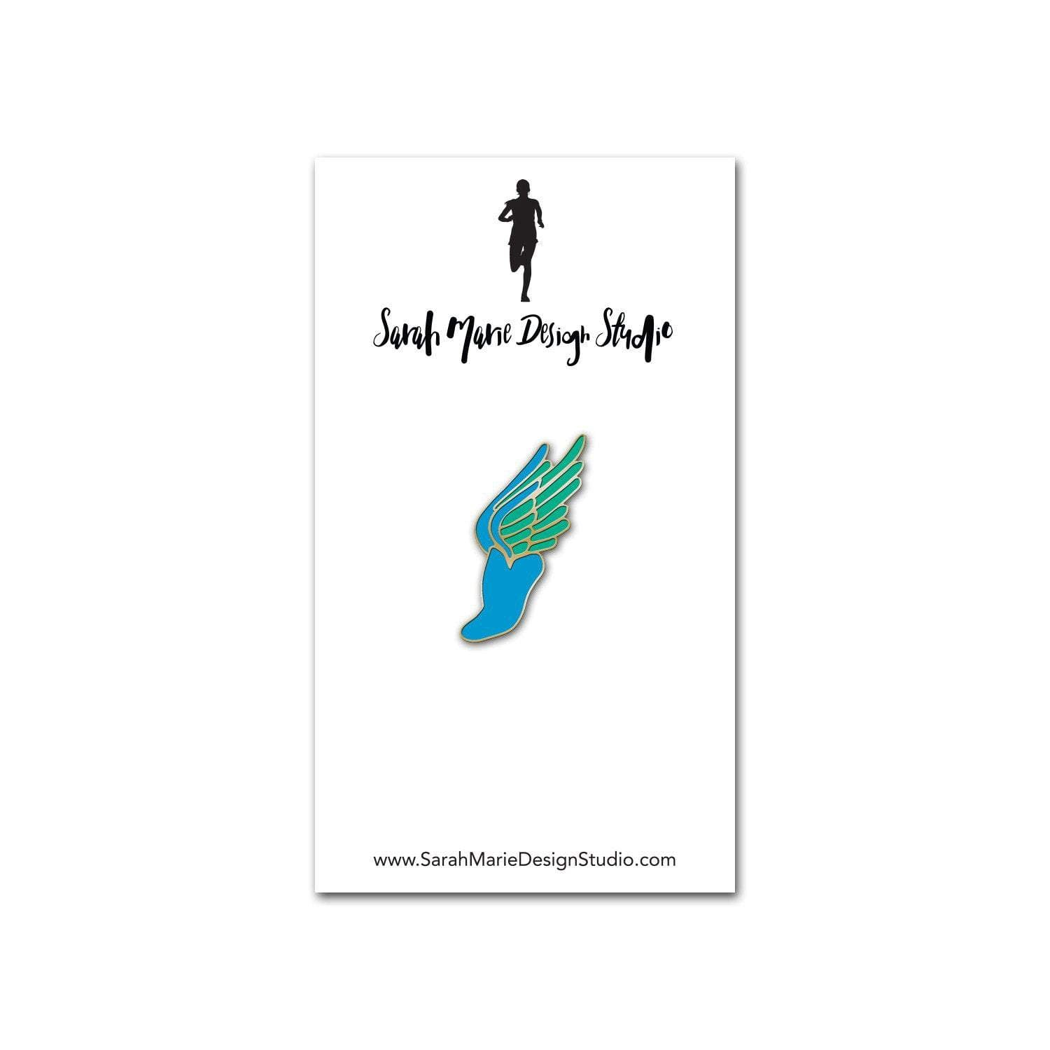 Sarah Marie Design Studio Pins Blue Winged Foot Pin