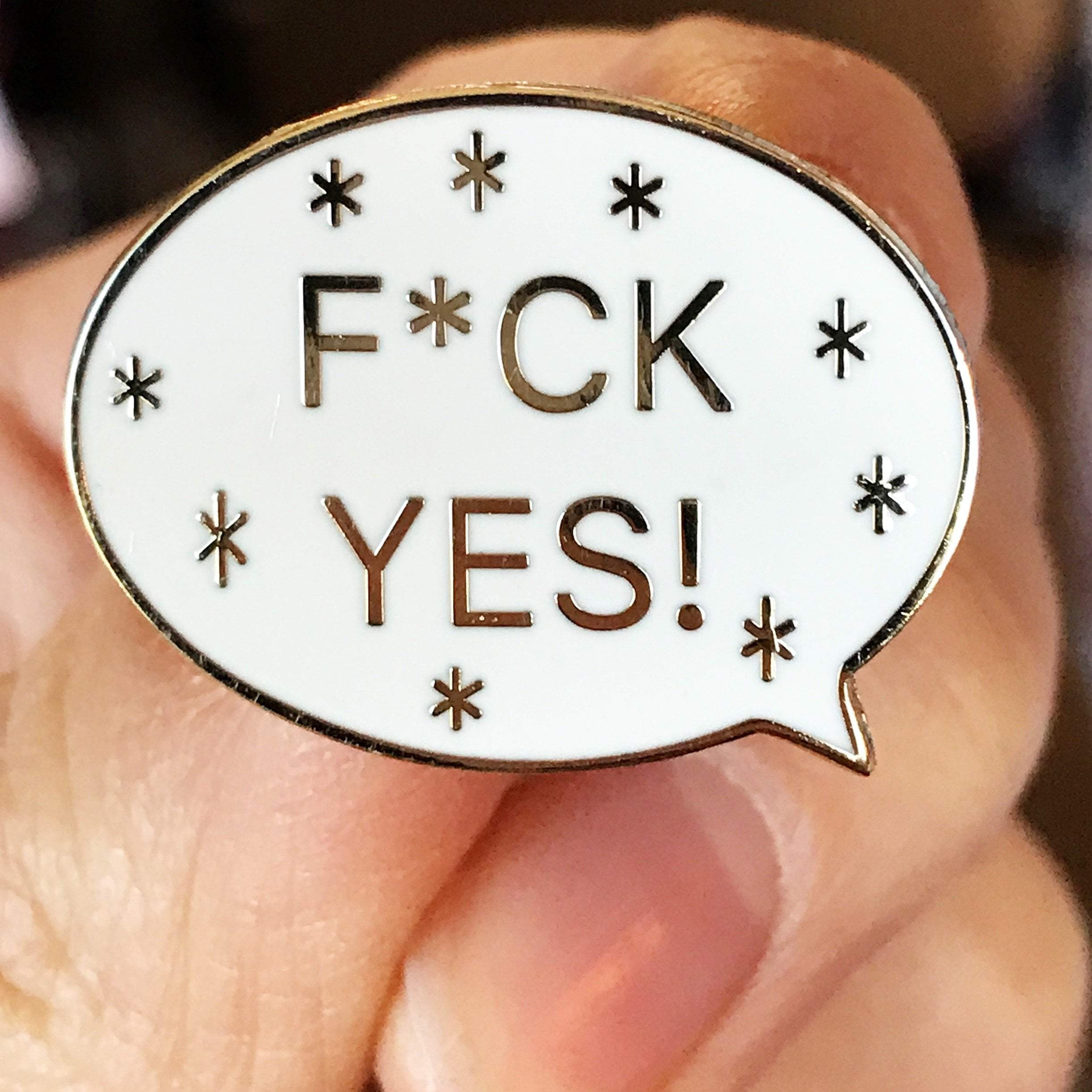 F*ck Yes Pin - Sarah Marie Design Studio