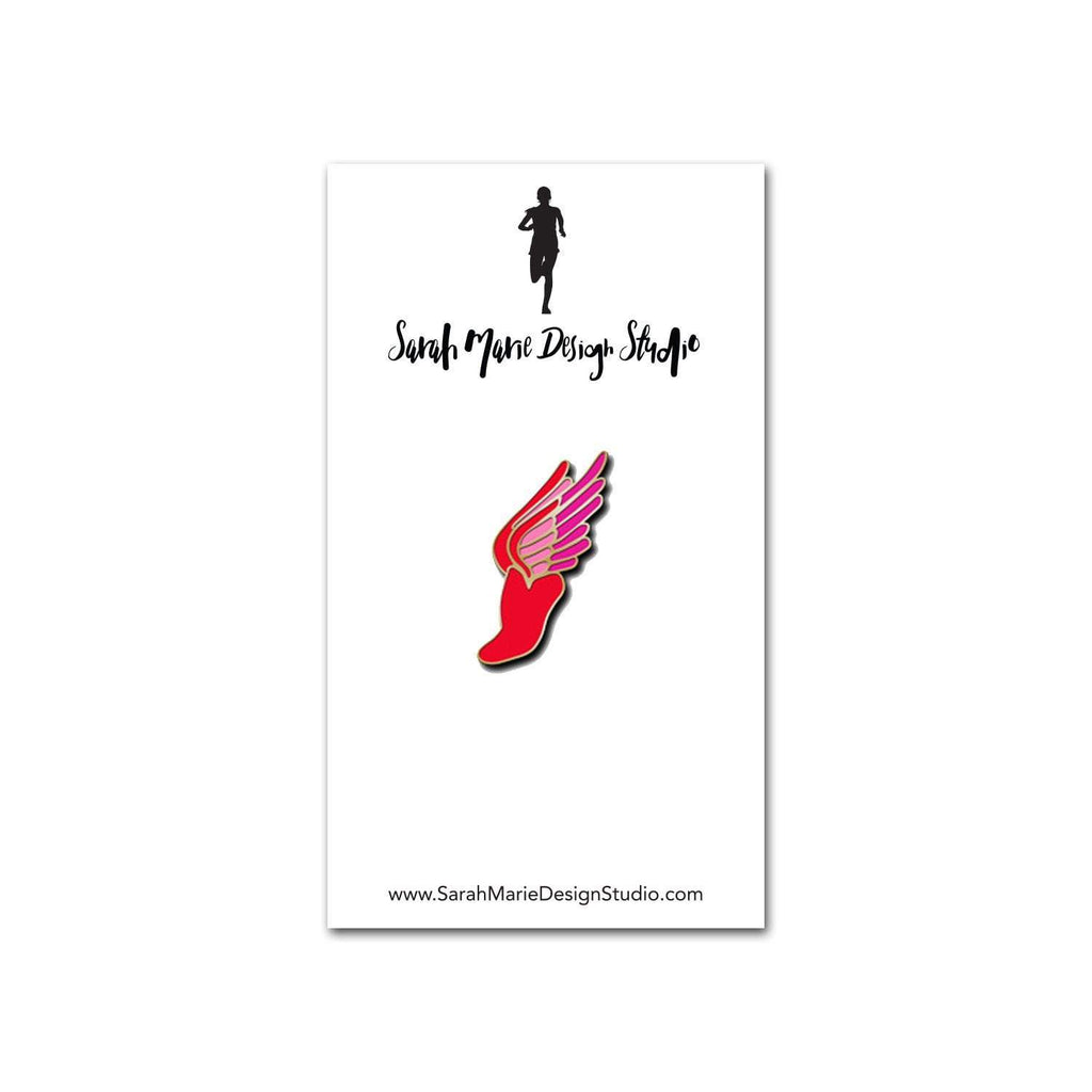 Sarah Marie Design Studio Pins Red Winged Foot Pin