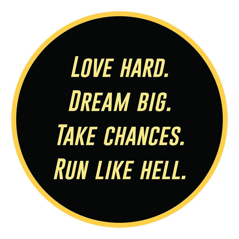 Run Like Hell Pin - Sarah Marie Design Studio