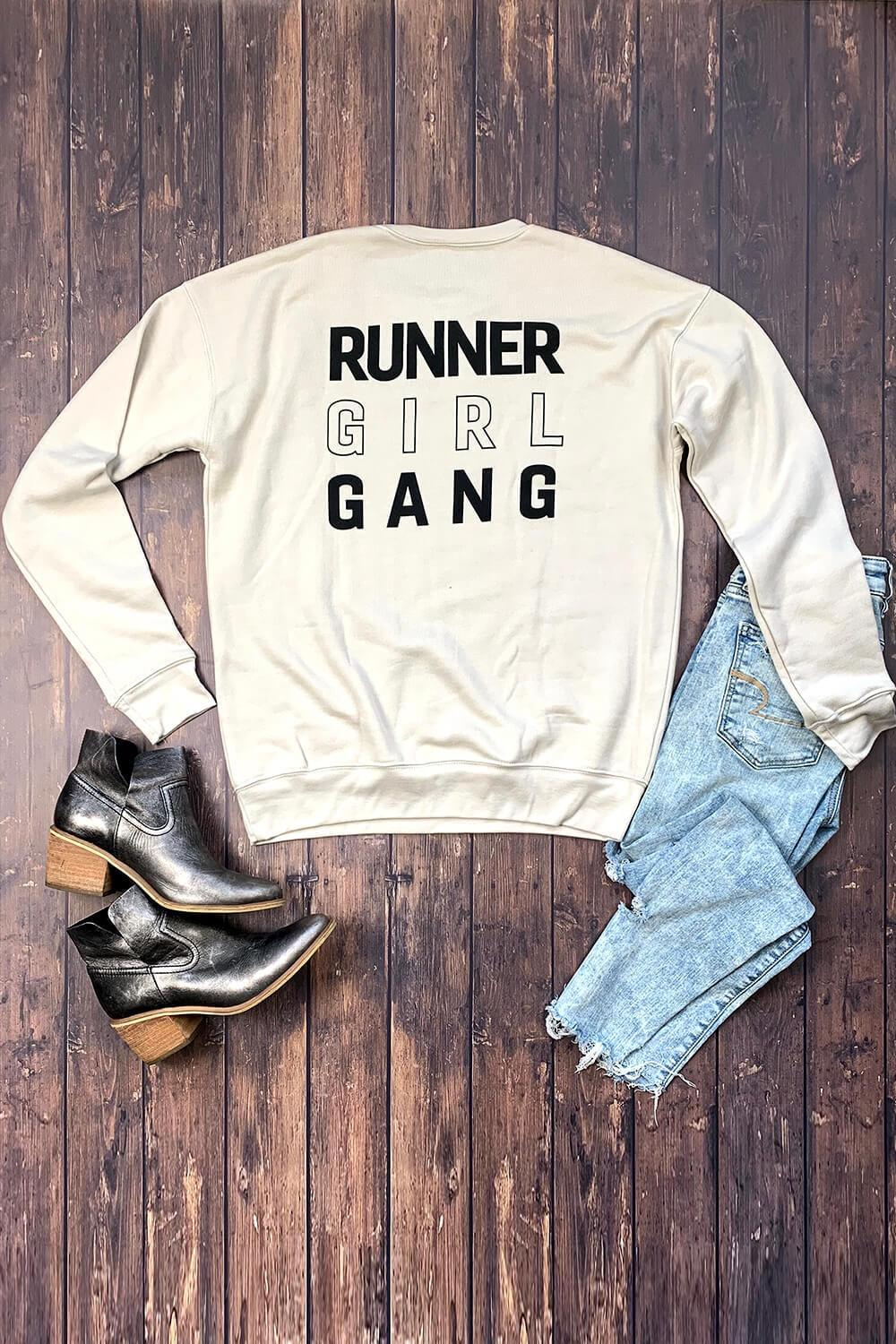 Runner Girl Gang Sweatshirt - Sarah Marie Design Studio