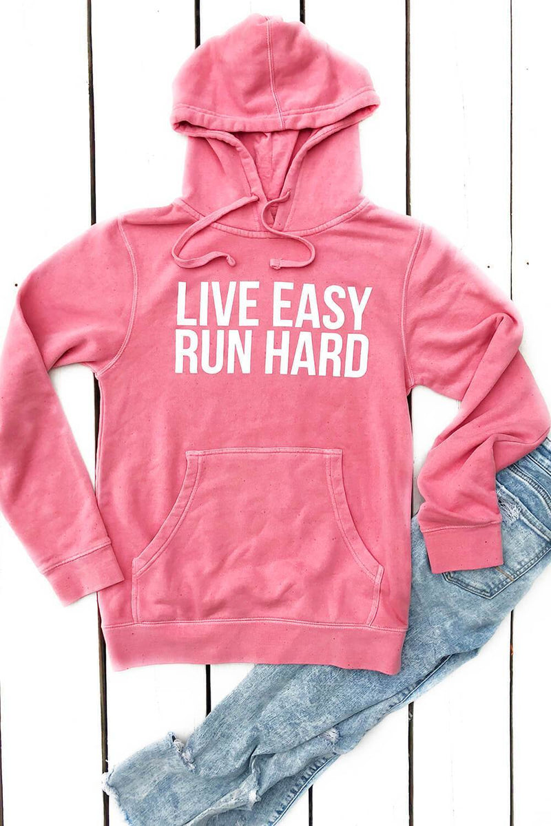 Live Easy, Run Hard Hoodie - Sarah Marie Design Studio