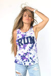 RUN TIE-DYE Muscle Tank - Sarah Marie Design Studio