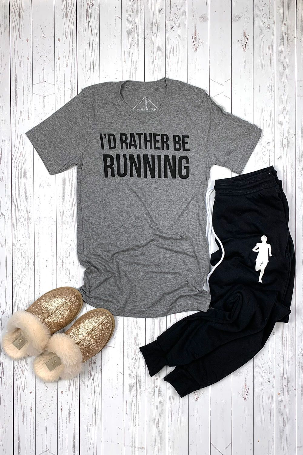 I'd Rather Be Running T-Shirt - Sarah Marie Design Studio