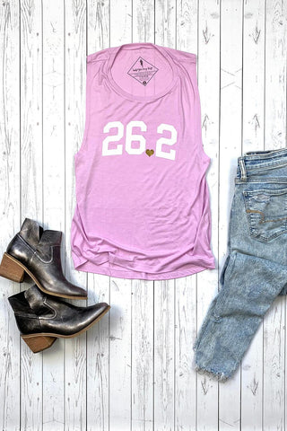 bRUNch Rose Gold Foil Muscle Tank