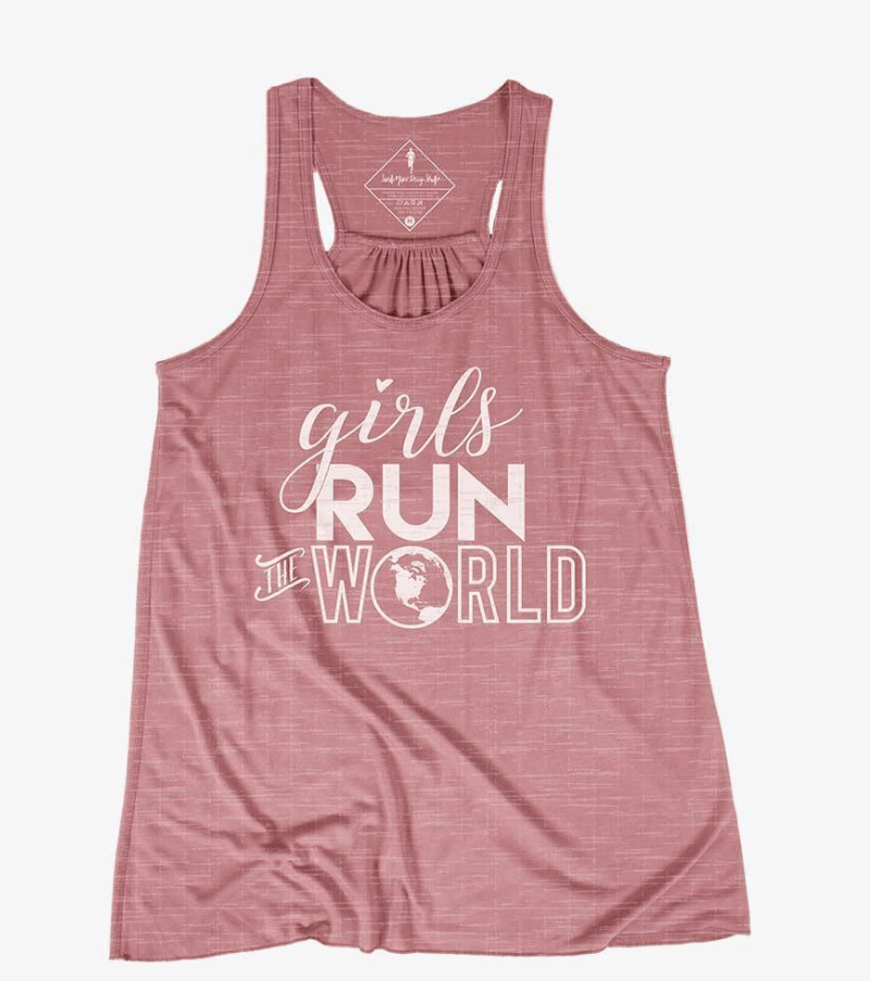 Girls Run The World Racerback Tank - Sarah Marie Design Studio