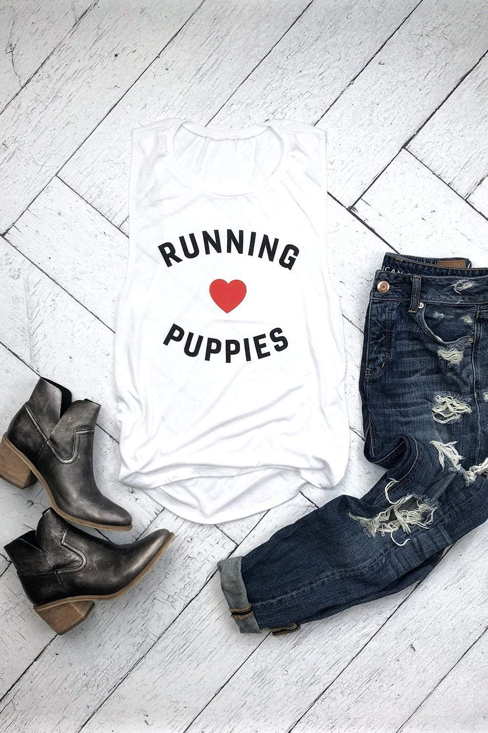 Running & Puppies Tank - Sarah Marie Design Studio