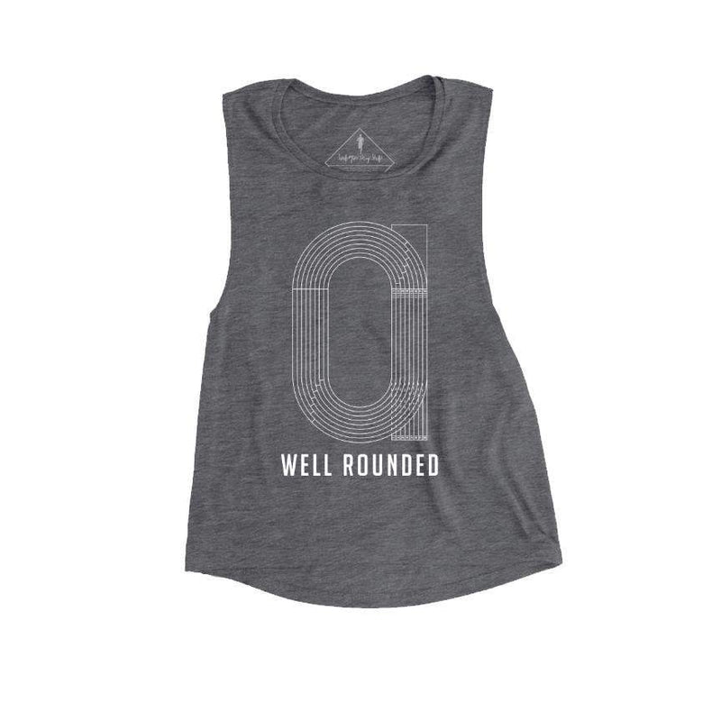 Sarah Marie Design Studio Women's Tank Small / Asphalt Well Rounded Muscle Tank