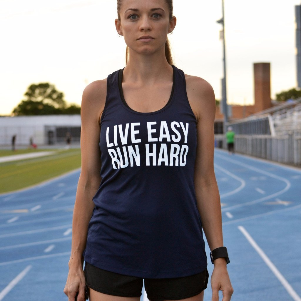 Live Easy, Run Hard - Women's Perfomance Tank - Sarah Marie Design Studio