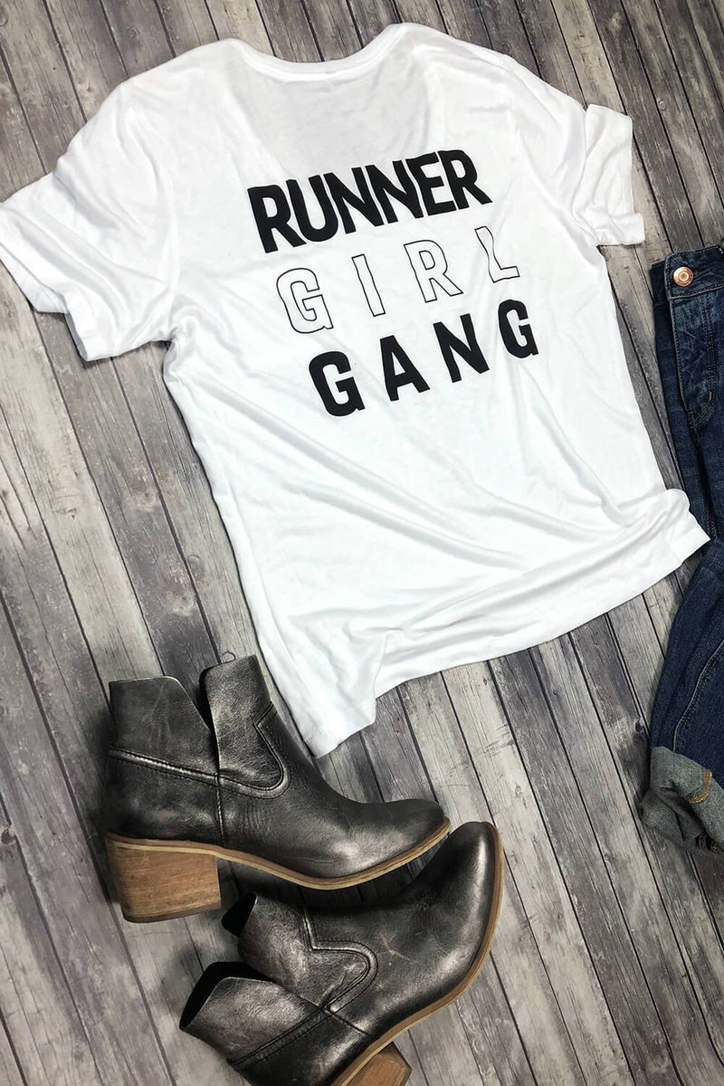 Runner Girl Gang Pocket Tee - Sarah Marie Design Studio
