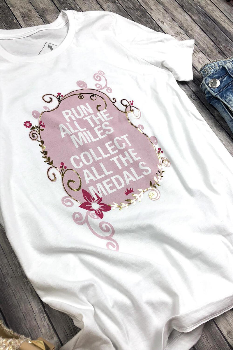 Run All The Miles, Collect All The Medals - RunDisney Inspired T-shirt - Sarah Marie Design Studio