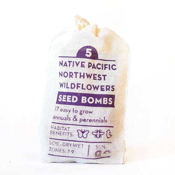 NATIVE PACIFIC NORTHWEST WILDFLOWER SEED BOMBS
