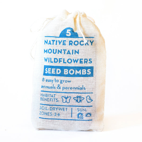 NATIVE ROCKY MOUNTAIN WILDFLOWER SEED BOMBS