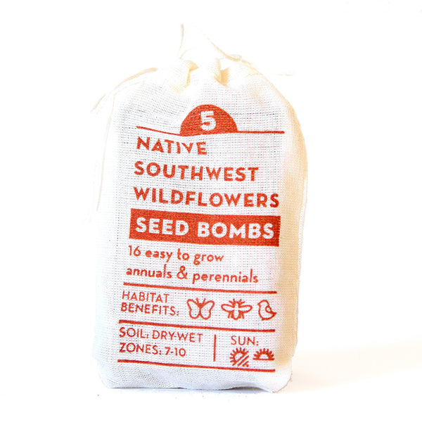 NATIVE SOUTHWEST WILDFLOWER SEED BOMBS