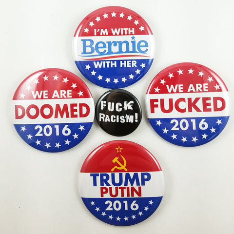 New Anti-Trump Pinback Buttons