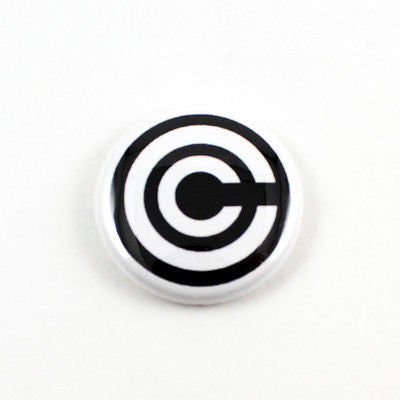 Dragonball Z | Capsule Corporation Logo | 1 Inch Pinback Button | Manga Anime