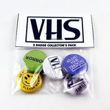 VHS Collector's Gift Set | 1 Inch Pinback Buttons