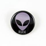 Alien Head | Pinback Buttons | 3 Styles to Choose From
