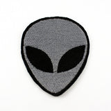 Alien Head | 3 x 2 1/4 Inch Fully Embroidered Patch